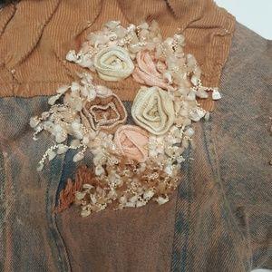 Beetlejuice Jackets & Coats - Beetlejuice Denim Embroidered Jacket Size 5